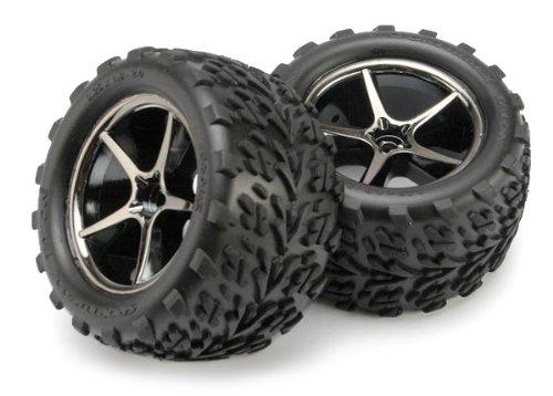 Traxxas 7174A Gemini Reifen und Rad Modellautoteile, schwarz/Chrom