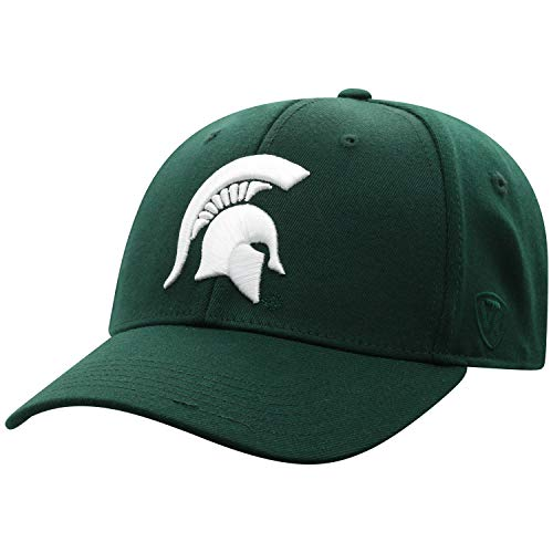 Top of the World NCAA Premium Collection One-Fit Memory Fit Mütze Team Color Icon, Herren, Premium Collection One-fit Memory Fit Hat Team Color Icon, Michigan State Spartans Green, Einstellbar