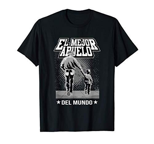 El Mejor Abuelo Del Mundo Camisa Del Regalo Dia Del Padre Camiseta