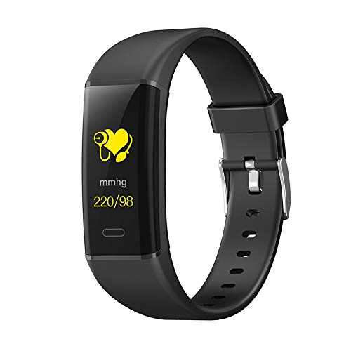PAGHY Color screen smart bracelet, Activity Tracker with Sleep Monitor, IP68 Waterproof Pedometer Step Counter Watch-black