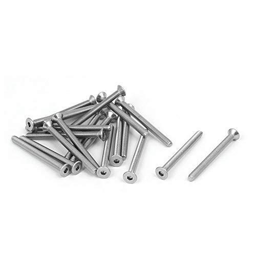 DIN7991 M3x35mm 316 Acero inoxidable Cabeza plana Hexagonal Tapón Tornillo Tornillo 20 piezas