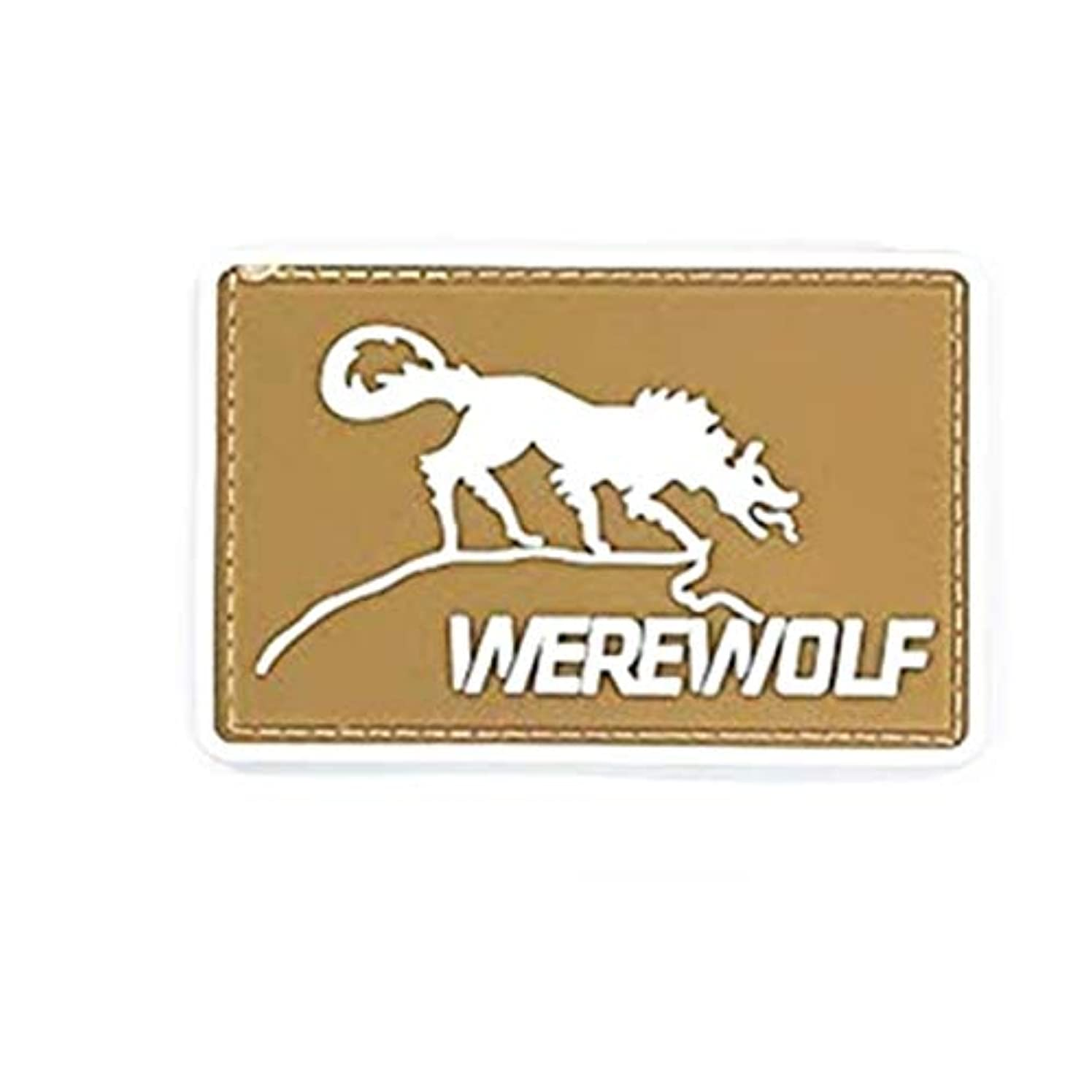 Morton Home The Inside Story of Freelance Soldiering Werewolf 3D PVC Rubber Patch(Brown)