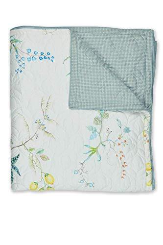 PIP Studio Fleur Grandeur Quilt White 180x260cm Tagesdecke Decke Wohndecke Plaid