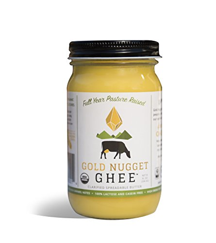 TRADITIONAL GHEE BY GOLD NUGGET GHEE, USDA ORGANIC, FULL-YEAR/PASTURE-RAISED, GRASS-FED BUTTER 8oz