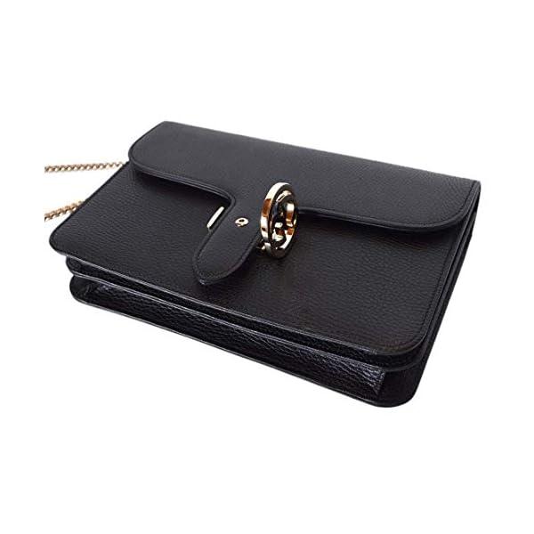 Fashion Shopping Gucci Women's Black Leather 510304 Interlocking GG Crossbody