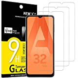 NEW'C 3 Unidades, Protector de Pantalla para Samsung Galaxy A32 5G, Antiarañazos, Antihuellas, Sin Burbujas, Dureza 9H, 0.33 mm Ultra Transparente, Vidrio Templado Ultra Resistente