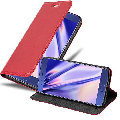Cadorabo Funda Libro para Xiaomi Mi 6 en Rojo Manzana - Cubierta Proteccíon con Cierre Magnético, Tarjetero y Función de Suporte - Etui Case Cover Carcasa