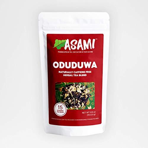 Asami Oduduwa | African Red Hibiscus Loose Leaf Tea Bags | 100% Natural Gourmet Herbal Tea | 15 Loose Leaf Pyramid Tea Bags | Caffeine Free | Red Tea | Teas Rich in Vitamin C | Immunity Boosting Tea