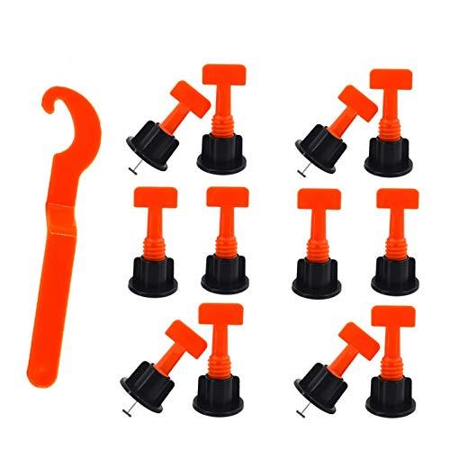 Fliesen Nivelliersystem, Niviliersystem Fliesen-Kit 100 Stück, wiederverwendbare Werkzeuge für DIY-Gebäudeboden Keramikfliesen