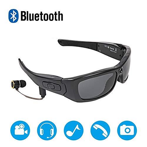 Zonnebril Camera, HD1080P Mini-Camcorder, Headset Bluetooth MP3-Speler Foto Videorecorder, Voor Outdoor DV Headset Sport Rijden Forensisch Recorder