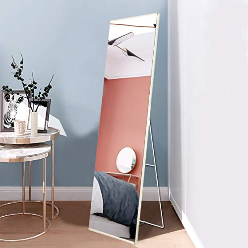 """FVANF Full Length Mirror,Floor to Ceiling Mirror for Bedroom,Modern Minimalist Full Length Mirror, Standing Mirror for Living Room,Wall Mounted Mirror(63""""x16"""")"""