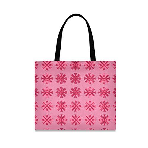 Montoj - Bolso de hombro para mujer, diseño de copo de nieve, color rosa