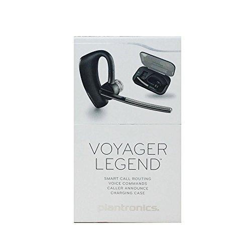 Plantronics Bundle Voyager Legend Mono-Bluetooth-Headset/Kopfhörer mit Lade-Hülle, Schwarz