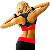 Posture Corrector for Women and Men - Easy to Wear Posture Brace Back Straightener, Fully Adjustable Posture Trainer, Improve Posture Support, Provide Neck, Shoulders and Back Pain Relief - Black