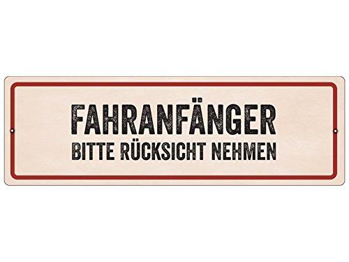 Interluxe Kunststoffschild mit Saugnapf FAHRANFÄNGER * Bitte Rücksicht nehmen * Geburtstag