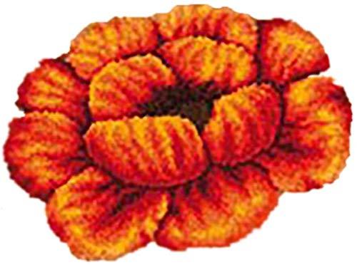 QAZWSX Crochet Kit DIY-Werkzeuge Handarbeit unfertiger Häkeln, Latch-Haken-Kits Blumenkissen-Teppich, kreatives Geschenk for Kinder/Erwachsene Anfänger. handgefertigt (Color : A, Size : 52 * 38cm)