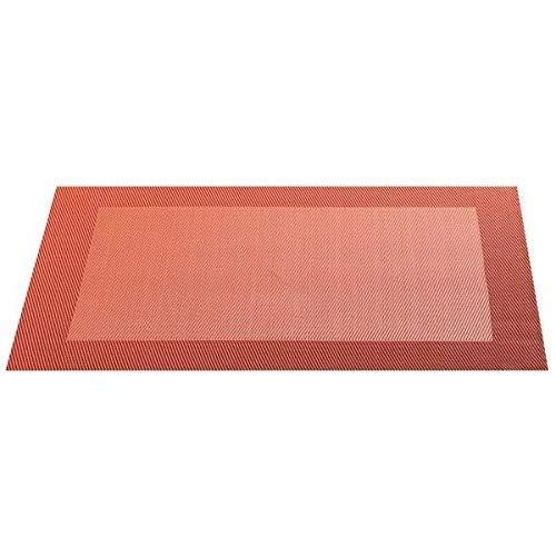 ASA Set de Table Bordé, Matériel Synthétique, Obscurité/Orange, 9x12x16 cm