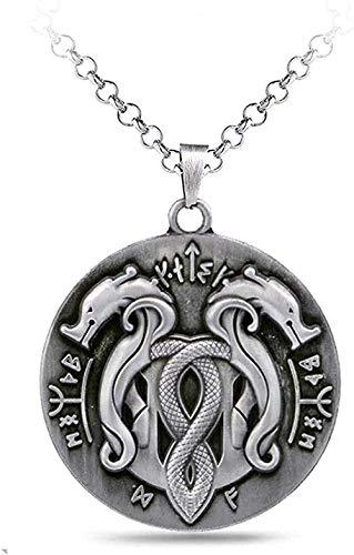 WYDSFWL Collares Collar de Serpiente de Moda Colgante de Metal Plateado Cadena de eslabones de Moda Antigua Hombres Mujeres Collares Charm Regalos Joyería