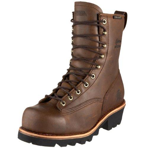 Chippewa Men's Lace-Up Waterproof 8″ Logger Boot Steel Toe Bay Apache 7