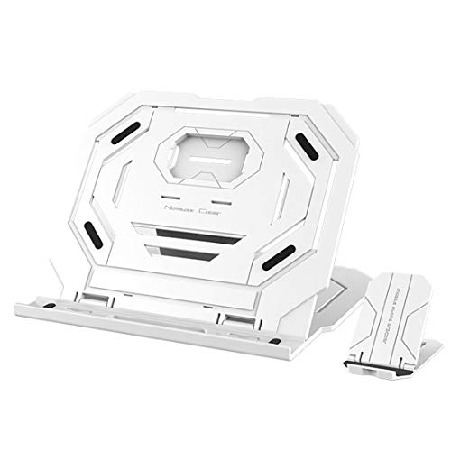 WUHFSHOPP Computer accessories HA T3 Multi-function Hollow Design Cooling Bracket with 10-Level Adjustable Angle for Notebook, MacBook, iPad, Mobile Phones(Black) (Color : White)