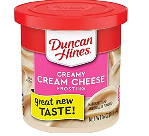 Duncan Hines Creamy Home-Style Cream Cheese Frosting, 16-Ounce (Pack of 8)