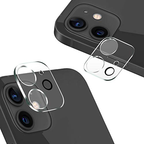 AUNEOS iPhone 12 用 カメラフィルム 2眼レンズ保護 フラッシュ穴に黒ゴム 露出オーバー防止 日本旭硝子製 ...