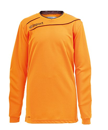 uhlsport Camiseta Strema 3, 0 para Hombre/Jersey Manga Larga/Portero Acolchado, Azul/Amarillo Flúor, 2XL, Naranja/Negro, XXL
