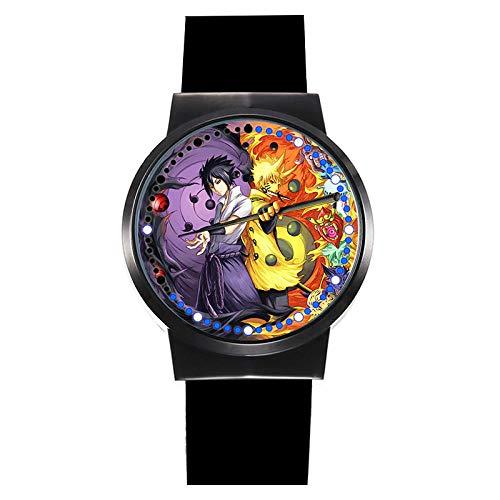 Naruto Reloj LED Pantalla táctil a Prueba de Agua Reloj de luz...