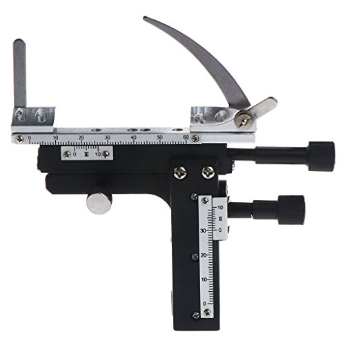 Oranmay Moveable Caliper Vernier with Scale Microscope Attachable Mechanical Stage X-Y High-Precision Vernier Biological