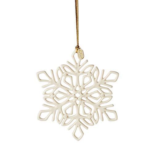 Lenox 2021 Snow Fantasies Snowflake Ornament, 0.20 LB, Ivory