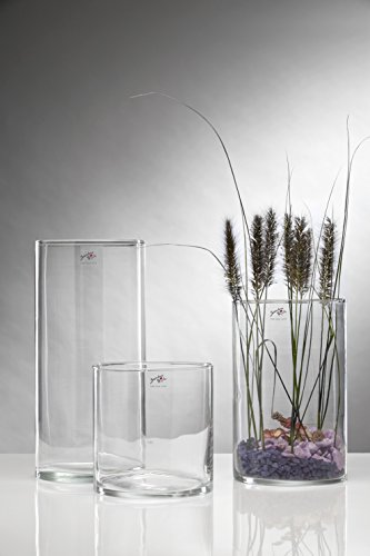 Sandra Rich Glasvase, Glas, transparent, 19 x 19 x 20 cm