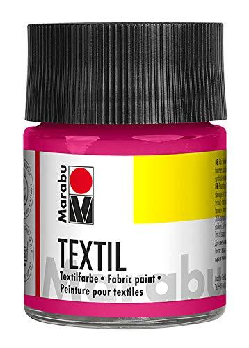 Marabu 17160005033 - Marabu Textil Stoffmalfarbe Stoffdruckfarbe, Wasserbasis, für helle Stoffe, waschbeständig bis 60°C, weicher Griff,...