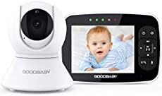 """Baby Monitor with Remote Pan-Tilt-Zoom Camera Keep Babies Safe with 3.5"""" Large Screen, Night Vision, Talk Back, Room Temperature, Lullabies, 960ft Range"""