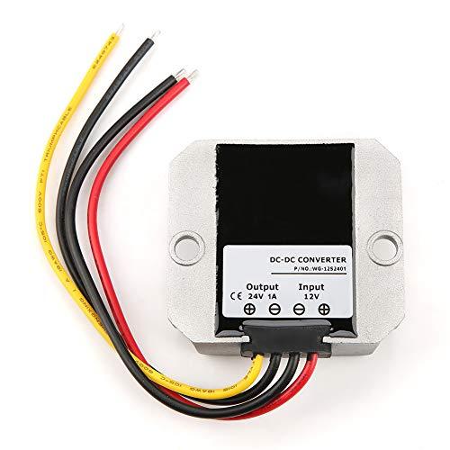 Regulador de voltaje, convertidor Boost de 12V a 24V Regulador de voltaje DC Fuente de alimentación 1A 24W, para automoción, correos y telecomunicaciones, telecomunicaciones, energía, minería