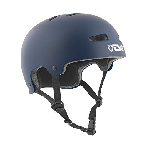 TSG Evolution Solid Color Casco de Skateboarding, Unisex Adulto, Azul (Satin Blue), S/M (54-56 cm)