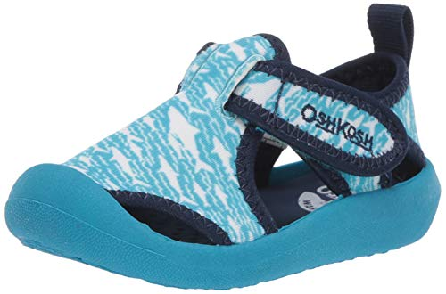 OshKosh B'Gosh Boys Aquatic Girl's Water Shoe, Light Blue, 7 M US Toddler