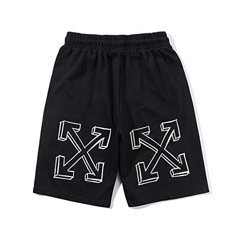 OW White Arrow Printed Cotton Pants Youth Fashion Shorts