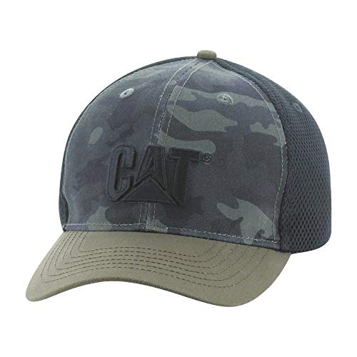 Caterpillar Mens Active Mesh Stretch Cap, Night Camo, L/XL
