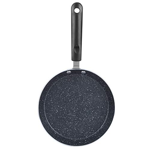 Frying Pan, Grill Skillet Scratch Resistant Pancake Pan Omelet Pan, Flat Bottom Pan Nonstick for Electric Ceramic Stove Induction Stove(Small (6 inches))