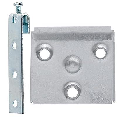 📦 Pack de 10 unidades (cada unidad se compone de placa + bastoncillo) 📐 Altura regulable ajustando los tornillos del enganche, Ideal para poder nivelar y poner recto 📏La medida de la placa es de 50mm x 54mm y del bastoncillo 14mm x 65mm (sin contar e...