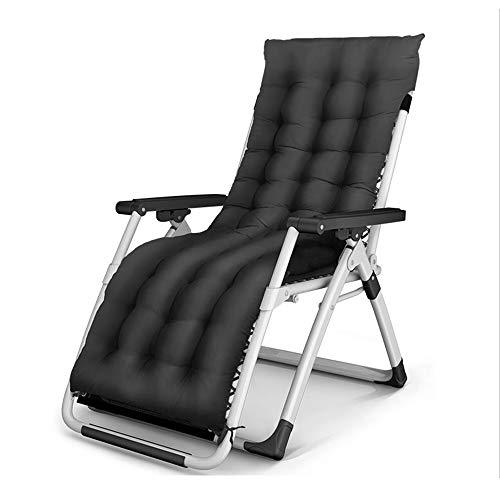 Lunch Break Chaise Pliante/Rocking Chair/Chaise De Repos/Loisirs/Chaise De Loisirs pour Adultes/Chaise pour Personnes Âgées * (Couleur : Noir, Taille : B)
