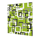 Modern Lime Green Black Gray White Wall Art Abstract Canvas Prints Painting Artwork Wall Decor Home Decoration For Bedroom Living Room 12'X12'