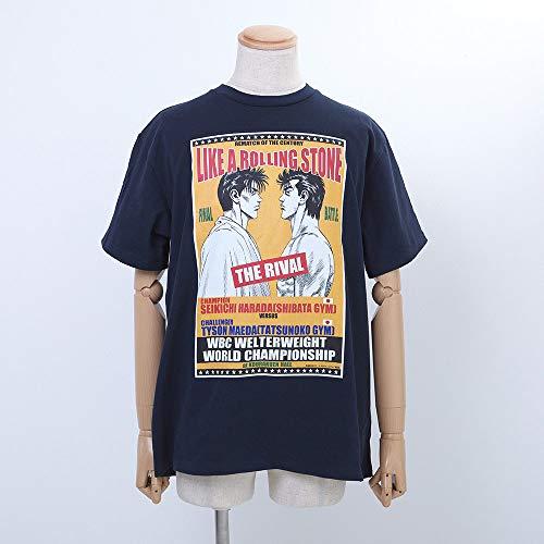 ろくでなしBLUES/ろくでなしブルース THE RIVAL 前田太尊VS原田成吉イラストTシャツ/ネイビー