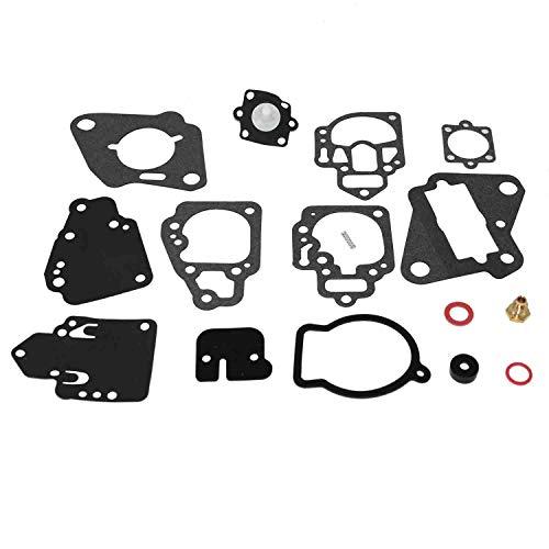 Autu Parts 18-7212 Carburetor Kit Gasket for Mercury Mariner 6hp-25hp 2cyl 1395-97611 1395-9803 1395-9725 1395-9645 Repair Rebuild Kit Outboard