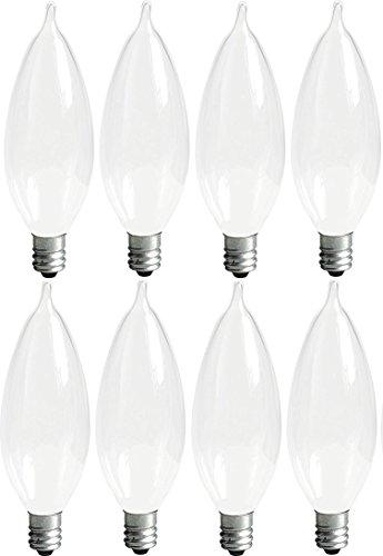 GE Bent Tip Decorative Light Bulbs (40 Watt), 360 Lumen, Candelabra Light Bulb Base, Soft White, 8-Pack Chandelier Light Bulbs