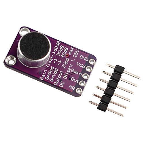 HALJIA MAX9814 högpresterande elektronisk MIC mikrofonförstärkare modul automatisk förstärkning kompatibel med Arduino CMA-4544PF-W
