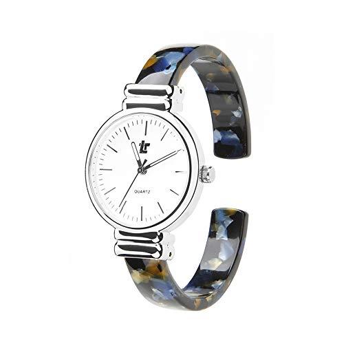 Gskj Reloj de Mujer Reloj de Cuarzo Moda Metal Reloj a Prueba de Agua Luminoso Reloj Pulsera Adecuado para Estudiante Señoras,D