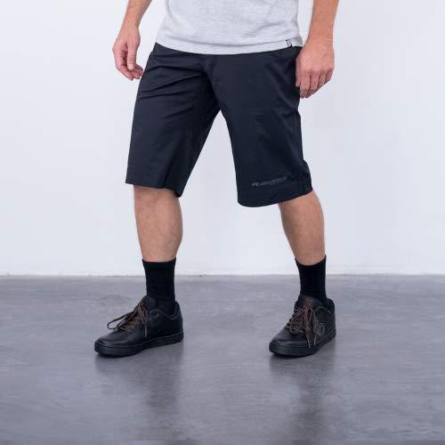 ruimteangst D1 fiets shorts heren broek kort zwart MTB