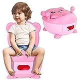 COSTWAY Pot d'Apprentissage Pot Bébé Siège de Toilette Enfant Trainer Pot WC pour...