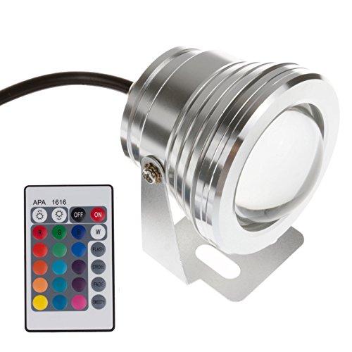 TiooDre IP65 10W RGB Source de lumière sous-marine Réflecteur de projecteur Piscine Réservoir de poissons Aquarium Aquarium LED Lampe LED 12V (1PCS)